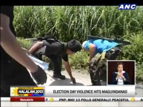 election - Violence marked the elections in Maguindanao. A failure of elections was also declared in one area. Jorge Cariño with this report. -- The World Tonight, ANC,...
