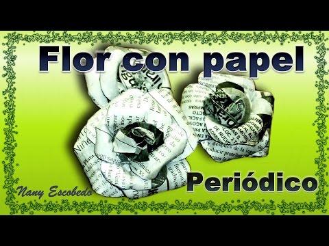 riciclo creativo - fiori di carta