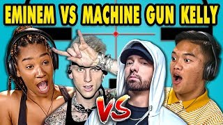 Video Teens React to Eminem/Machine Gun Kelly Diss Tracks MP3, 3GP, MP4, WEBM, AVI, FLV Oktober 2018