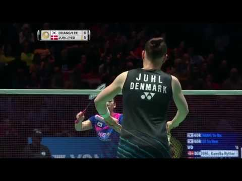 Yonex All England Open 2017 | Badminton F M3-WD | Chang/Lee vs Juhl/Ped