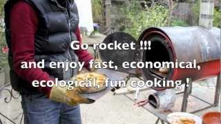 Here I talk about a rocket stove oven I recently made. Constructed entirely from things I found :) Simple rocket stove technology is used here. The oven is ready ...