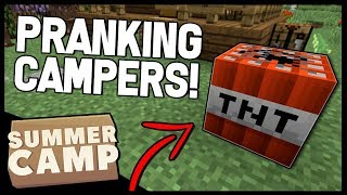 • PRANKING OTHER CAMPERS!! | Minecraft Summer Camp SMP Livestream