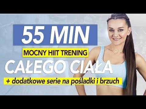 HIIT Intensywny trening odchudzający całego ciała 55 min 🔥Ekstra pośladki i brzuch 🔥 - 800 kcal