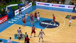 Play of the Game V. Sanikidze Georgia-Poland EuroBasket 2013
