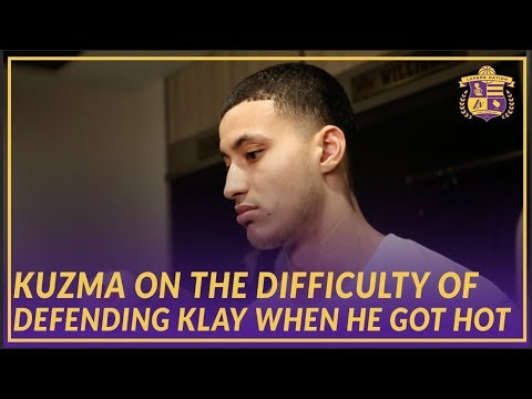 Video: Lakers Post Game: Kyle Kuzma On Trying to Stop Klay Thompson & How Ingram Did At Point Guard
