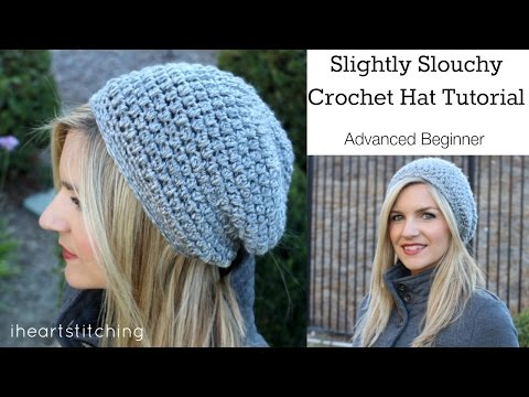 Slightly Slouchy Crochet Hat Tutorial