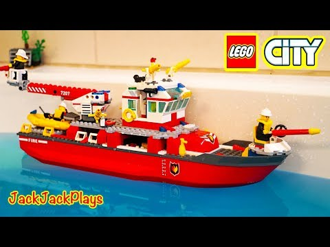 Lego City Fire Boat Unboxing + Firefighter Costume Pretend Play Intro