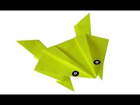 Смотреть оригами как сделать лягушку - Gomdm.com