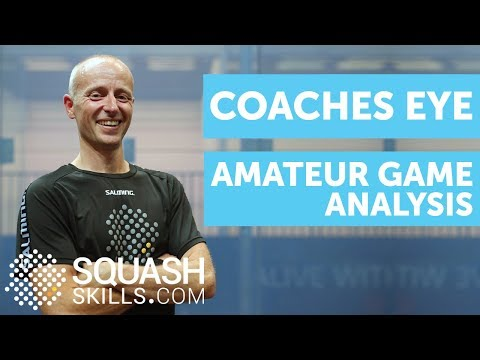 Squash coaching: Amateur game analysis