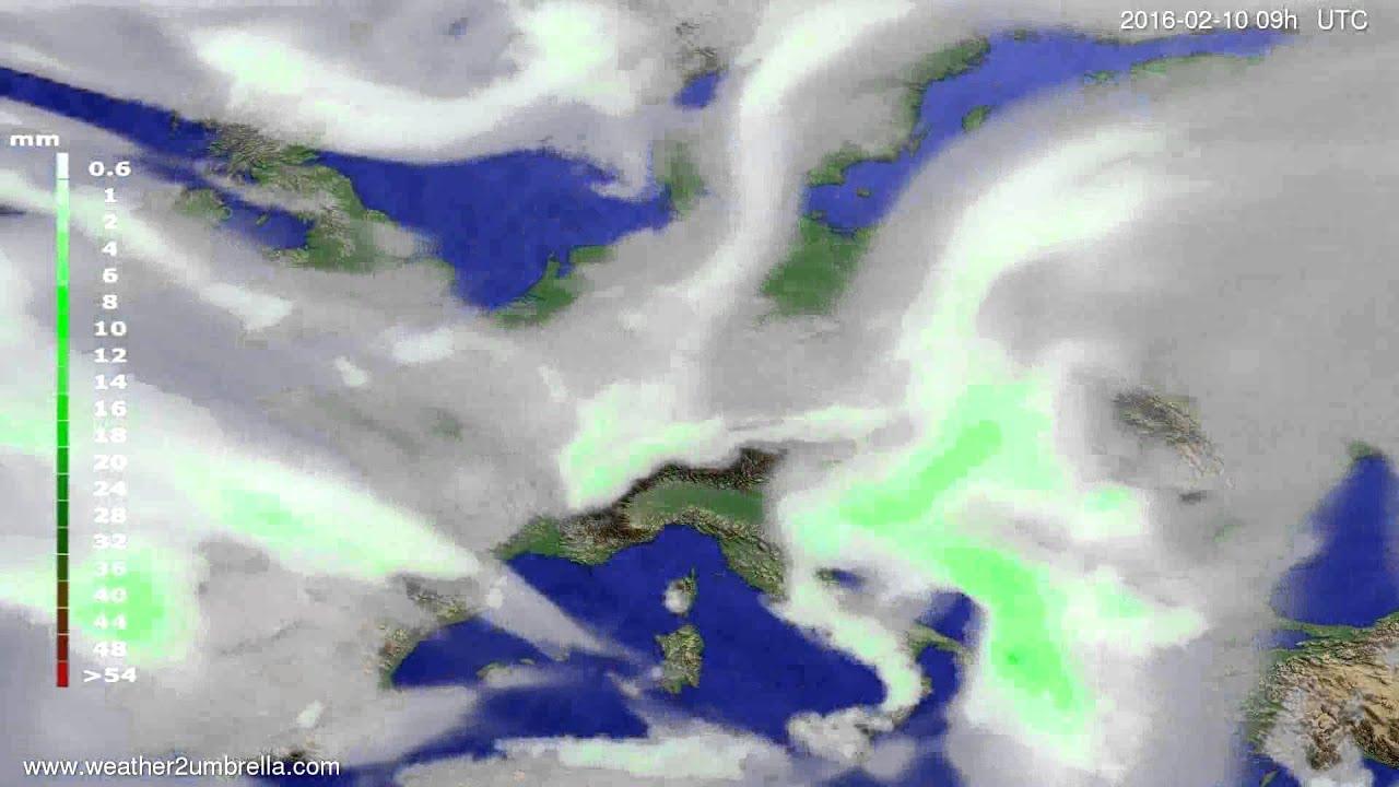 Precipitation forecast Europe 2016-02-06
