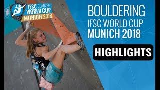 IFSC Climbing World Cup Munich 2018 - Bouldering Finals Highlights by International Federation of Sport Climbing
