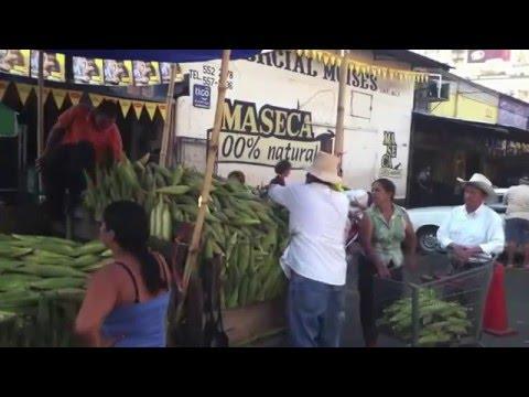 San Pedro Sula, Honduras. El Mercado. Sugar Cane.