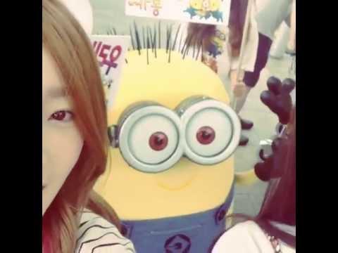 [Video] 130719 SNSD Taeyeon and Seohyun with MINIONS (видео)