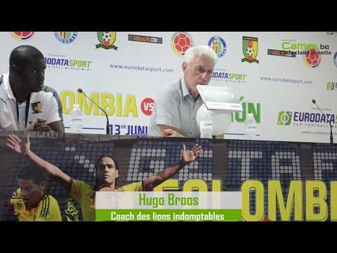 Conférence de presse de Hugo Broos après la lourde défaite face à la Colombie