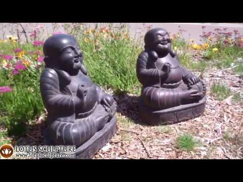 Stone Happy Budai Buddha Statue 22