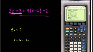 Solving Linear Equations   Using the TI 83 or TI 84 Series Calculator