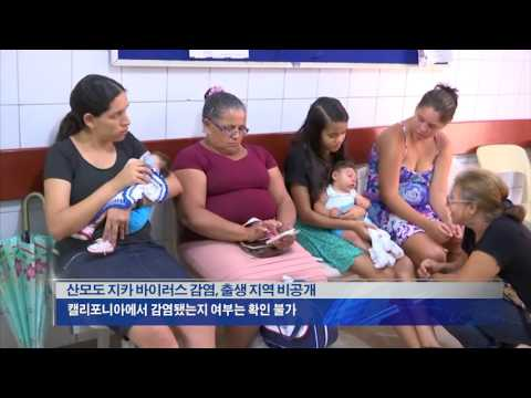 CA, 지카 감염 소두증 신생아 출생  8.4.16 KBS America News