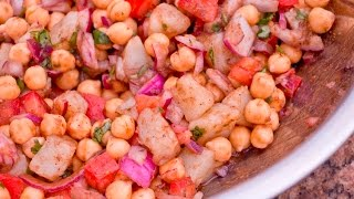 Chickpea is Channa in Urdu. This is one of the most traditional Channa Chaat recipes made in Pakistan. Spicy. Tangy. Healthy! Check out how I make this.Recipe link: http://rookiewithacookie.com/channa-chaat-recipe/