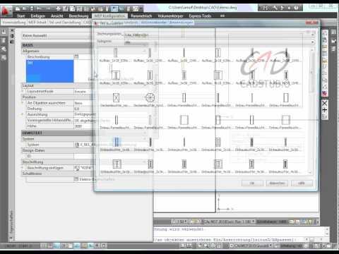 AutoCAD MEP 2010 | Elektro: E-Objekte zeichnen mit Legende und Raumliste