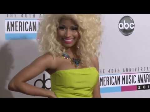 Nicki Minaj Red Carpet Fashion - AMAs 2012