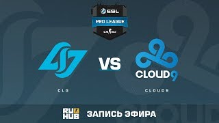 CLG vs Cloud9 - ESL Pro League S6 NA - de_cobblestone [sleepsomewhile, MintGod]