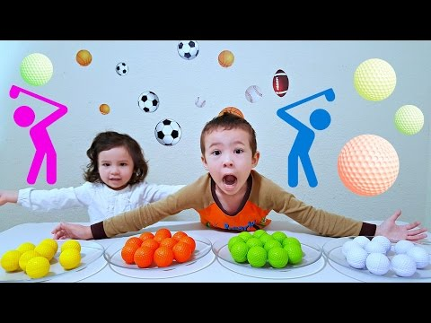 Video Learn Colors and Numbers with Balls For Children, Babies, and Toddlers - Colours with Golf Balls download in MP3, 3GP, MP4, WEBM, AVI, FLV January 2017