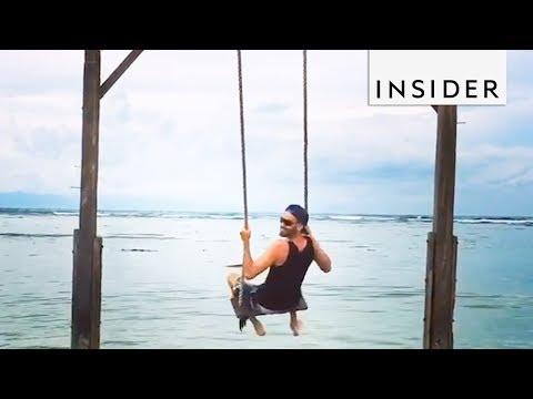 Island Swings Over the Ocean