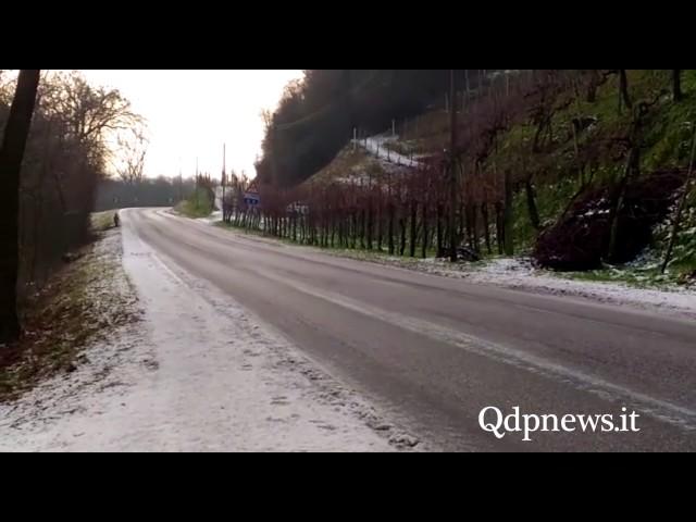 Pericolo ghiaccio scongiurato tra Segusino e Valdobbiadene: Sp 152 caso limite, Provincia al lavoro
