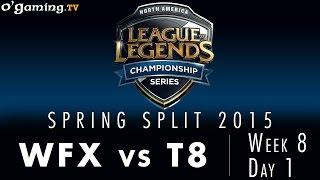 LCS NA Spring 2015 - W8D1 - WFX vs T8
