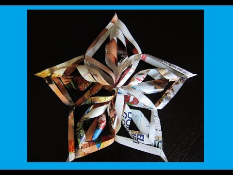 DIY 3D Snowflake / Christmas Star / Tree Topper / Decoration /Decor – Paper Star- Arts/Crafts -Easy