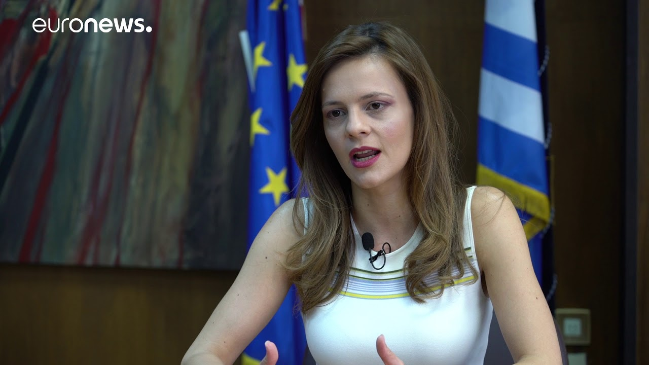 Η Έφη Αχτσιόγλου στο Euronews.