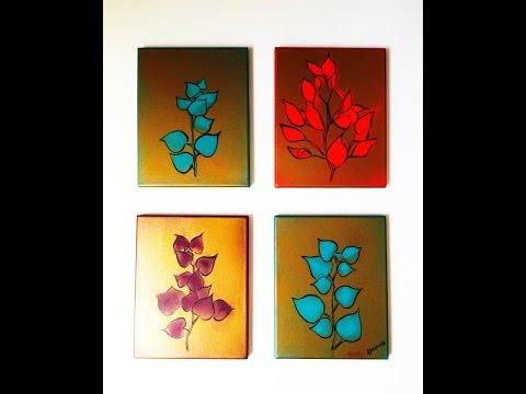 Pintura acrilica cuadros videos videos relacionados - Cuadros para hacer en casa ...