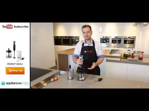 The Powerful MSM67160AU Bosch ErgoMixx Stick Blender Demonstrated By Expert - Appliances Online