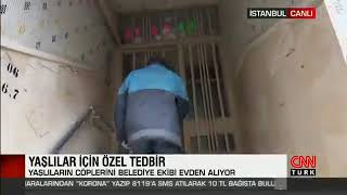 65 Yaş Üstü Vatandaşlarımızın Çöplerini Kapılarından Alıyoruz - Cnn Türk
