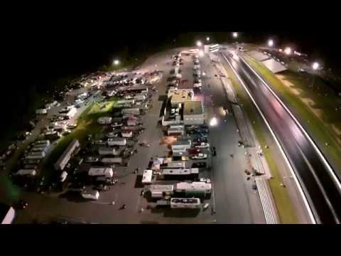 Maryland International Raceway Night Time Fly Over