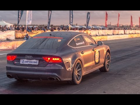 SEC - The fastest and quickest Audi RS7 in the World — Oleg Belousov's Audi RS7 (C7) APR | Total Race Stage 2 (750+ hp) on Russian Drag Racing Championship Stage 5 in Crimea 2014. 1/4 mile —...