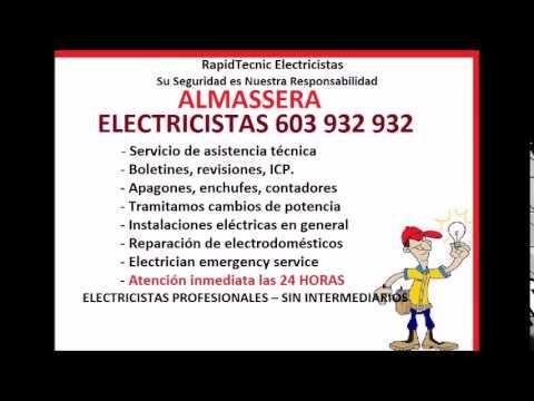 Electricistas ALMASSERA 603 932 932 Baratos