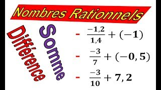 Maths 3ème - Les nombres rationnels Addition et Soustraction Exercice 28