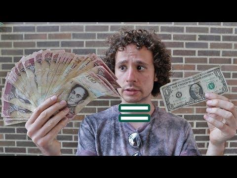 Así es el dinero en Venezuela   UN DÓLAR VALE ORO!
