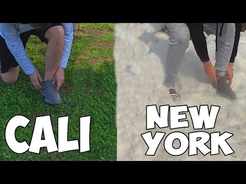 Tying My Shoes In Every State (World Record) (видео)