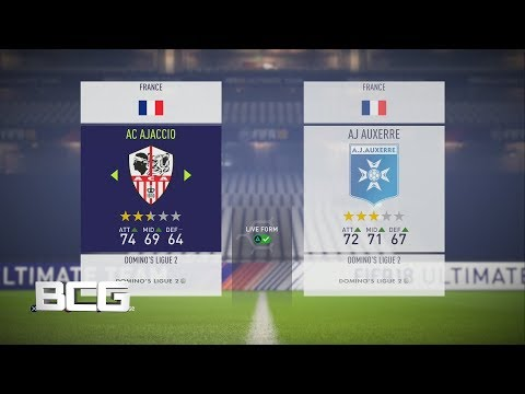 Fifa 18 French Ligue Two Ratings & Kits