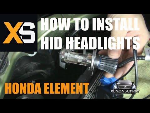 DIY HID Bi-Xenon Install: Honda Element 2003-2010