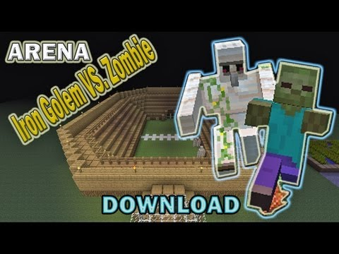Minecraft Arena Battle Iron Golem vs. Zombie