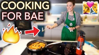 Video I Tried to Cook My Boyfriend His Fav Meal (I set it on fire) MP3, 3GP, MP4, WEBM, AVI, FLV Maret 2019