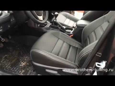 """Чехлы на Toyota RAV-4, серии """"Premium"""" - серая строчка"""