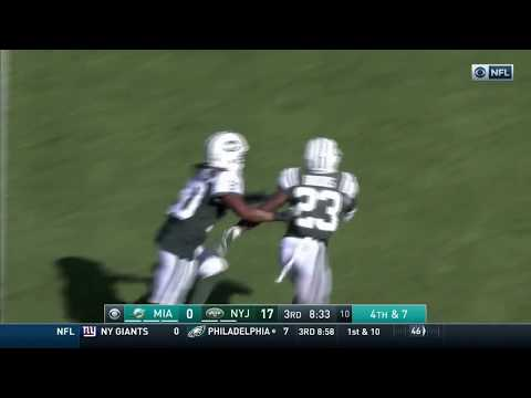Video: Miami's Fake Punt Fail Results in a New York INT!   Dolphins vs. Jets   NFL Wk 3 Highlights