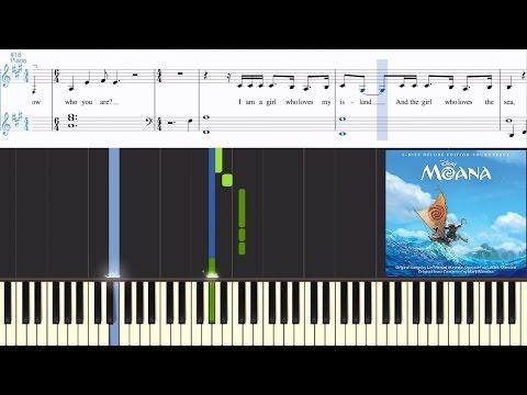 [Moana] I Am Moana (Song Of The Ancestors) (Synthesia Piano Tutorial w/Lyrics)