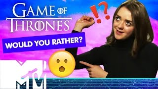 The cast of Game Of Thrones throw around the 'bants' for this special edition of 'Would you rather?' Expect fantasy mashups and glorious answers!! ✨CLICK ...