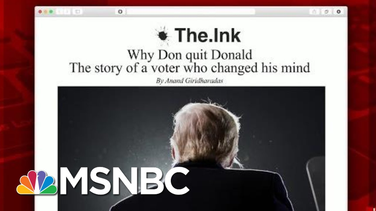 Why One Senior Voter Changed His Mind On Trump | Morning Joe | MSNBC