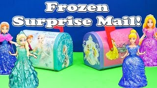 FROZEN Disney Frozen + Disney Princesses Huge Surprise Mail Funny Surprise Toys Egg Video